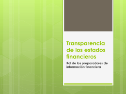 Transparencia de los estados financieros