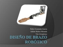 Diseño de brazo robotico