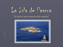 La isla de pascua