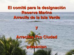Reserva Marina ISLA VERDE por Arrecifes Pro Ciudad