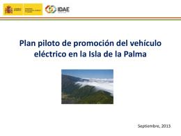 Plan piloto de promoción del vehículo eléctrico en la Isla de la