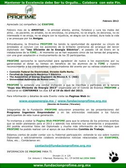 Febrero_2013 - Fundacion Pro-FIME