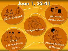 Juan 1, 35-41
