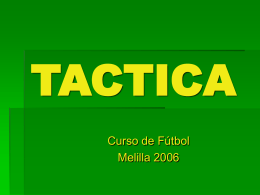TACTICA - futbol formativo