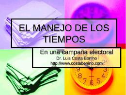 EL MANEJO DE LOS TIEMPOS