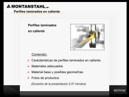 Presentación Perfiles laminados en caliente 1.1_0 SPANISH