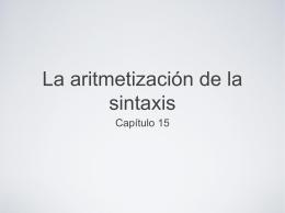 Aritmetización de la Sintaxis
