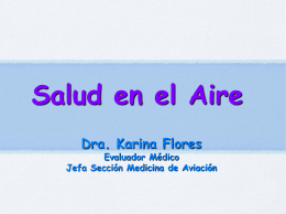 Curso de Medicina Aeronáutica y Sanidad Militar.