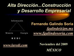 Alta Dirección...Construcción y Desarrollo Empresarial