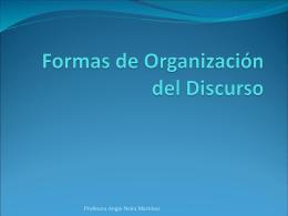 Formas de Organización del Discurso