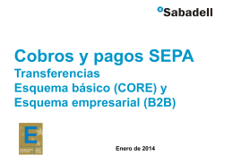 Nuevo sistema SEPA Banco Sabadell