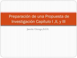 Capítulo I Propuesta de Investigación