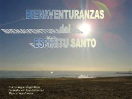 Bienaventuranzas del Espíritu Santo