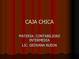 CAJA CHICA (419328)
