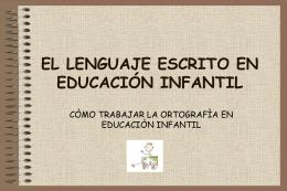 el lenguaje escrito en educación infantil