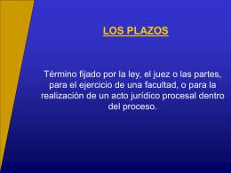 LOS PLAZOS Reglamentación - Facultad de Derecho