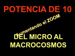 Del micro al macrocosmos