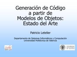 Generación de Código a partir de Modelos de Objetos