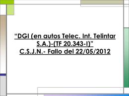 DGI (en autos Telec. Int. Telintar S.A.)-(TF 20.343-I)