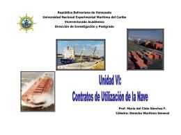 Unidad VI Contratos de Utilización de la Nave