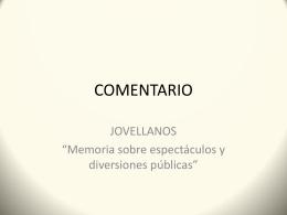 COMENTARIO Jovellanos
