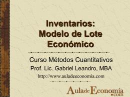 Inventarios -EOQ - Aula de Economía