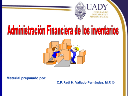 Administración Financiera de los Inventarios