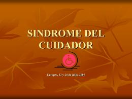 SINDROME DEL CUIDADOR presentación 1popular!