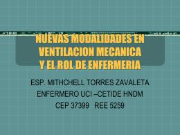 Nuevas Modalidades en Ventilación Mecánica y el Rol de Enfermería