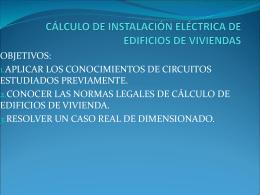 cálculo de instalación eléctrica de edificios de viviendas