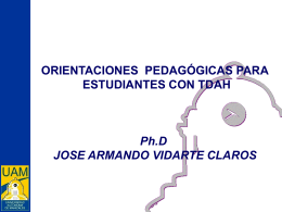 orientaciones pedagogicas en tdah