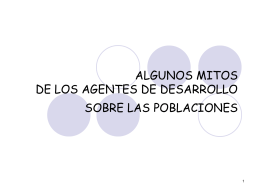 Power point 1: Mitos sobre las poblaciones