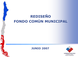Rediseño del Fondo Común Municipal