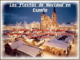 Las fiestas de Navidad en España