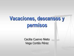 presentación ppt – descansos laborales, vacaciones y permisos