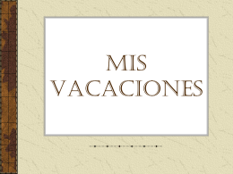 MIS VACACIONES - WordPress.com