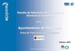INFORME DE RESULTADOS - Ayuntamiento de Pamplona