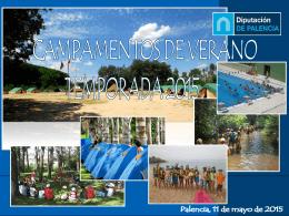Presentación Campamentos de Verano 2015