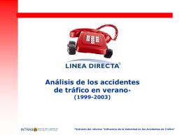 Análisis de los accidentes de tráfico en verano
