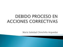 DEBIDO PROCESO EN ACCIONES CORRECTIVASx