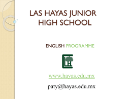 LAS HAYAS JUNIOR HIGH SCHOOL
