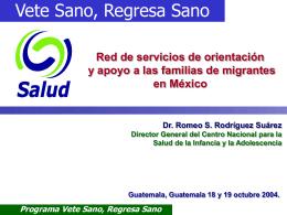 Red de Servicios en Apoyo a Migrantes Programa Vete Sano