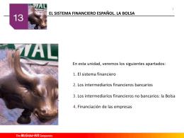 Los intermediarios financieros no bancarios: la bolsa