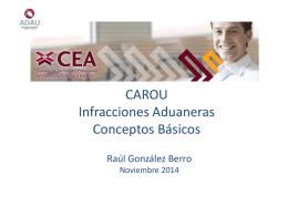 CAROU Infracciones Aduaneras Conceptos Básicos