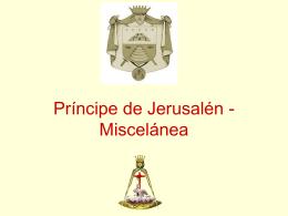 16° Grado – Principe de Jerusalen