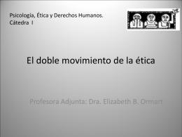 El doble movimiento de la ética - Psicología, Ética y Derechos