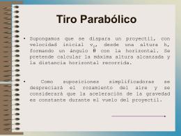 Tiro Parabólico - Gobierno de Canarias