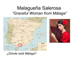 Malagueña Salerosa Graceful Woman from Málaga