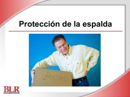 Protección de la espalda (Back Safety_SE)