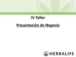 Taller IV Presentacion del Negocio (MX)